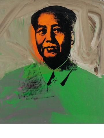 וורהול מצייר את מאו. © 2013, The Andy Warhol Foundation for the Visual Arts, Inc. / Artists Rights Society (ARS), New York (צילום רפרודוקציה: אלעד שריג)