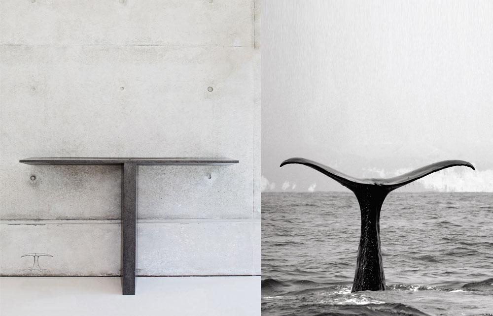 T sink עוצב מאבן בזלת, וגם הפעם ההשראה היא מהטבע: זנב לוויתן (צילום: עמית גרון)