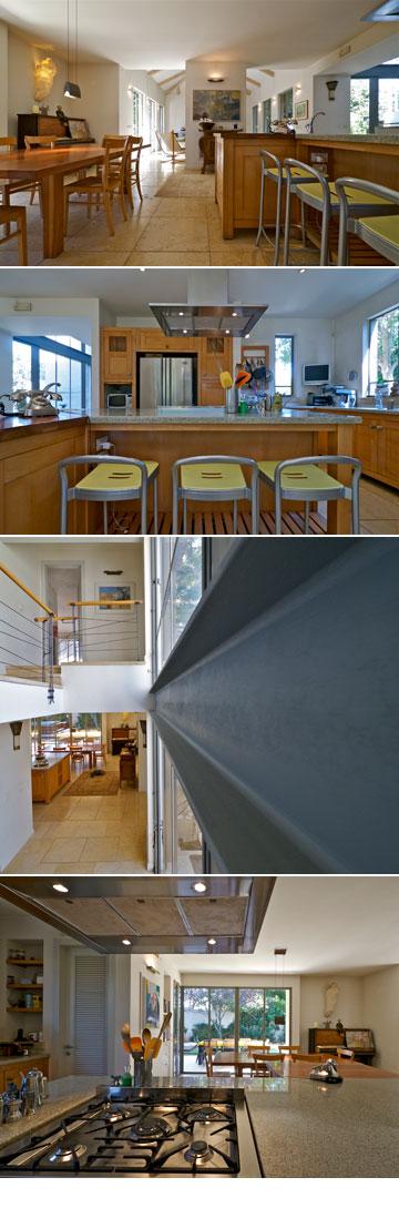 ''הבית עשוי מחומרים טובים שמתיישנים טוב ונראים על זמניים מבחינת העיצוב'' (צילום: איתי סיקולסקי)