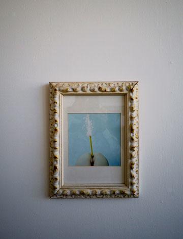"""""""יש לי עוד מלא עבודות אמנות, אבל קירות הבית אלכסוניים אז אין הרבה מקום לתלות אותן"""" (צילום: איתי סיקולסקי)"""