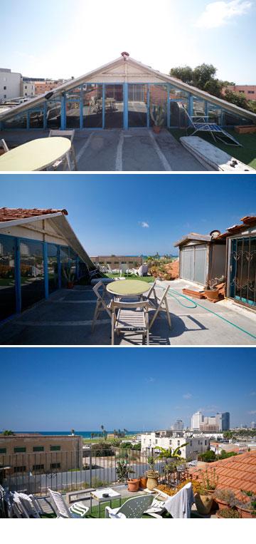 הנוף של שירלי איציק. מעדיפה דירות גג (צילום: איתי סיקולסקי)