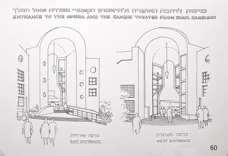 רישום של הכניסות לרחבת האופרה והתיאטרון הקאמרי (צילום: ענבל מרמרי)