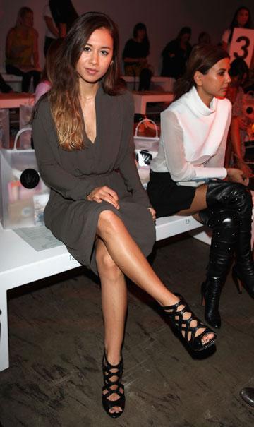 רומי נילי בשבוע האופנה באוסטרליה (צילום: gettyimages)