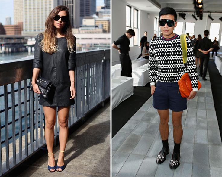"""בריאן בוי הפיליפיני (מימין) ורומי נילי היפנית-הולנדית. ''אי אפשר להגיד עלינו שאנחנו מעצמת אופנה, אבל קורים כאן דברים מעניינים'', אומרת עו""""ד ג'ואנה לנדאו מארגון קינטיס (צילום: gettyimages)"""