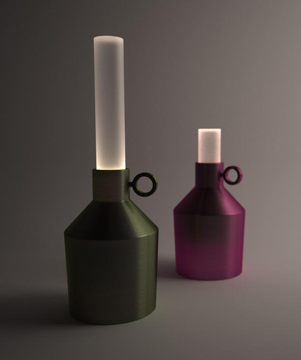 Candela  - מנורות שולחן של ענבל כהנר (באדיבות ''יריד צבע טרי 7'')