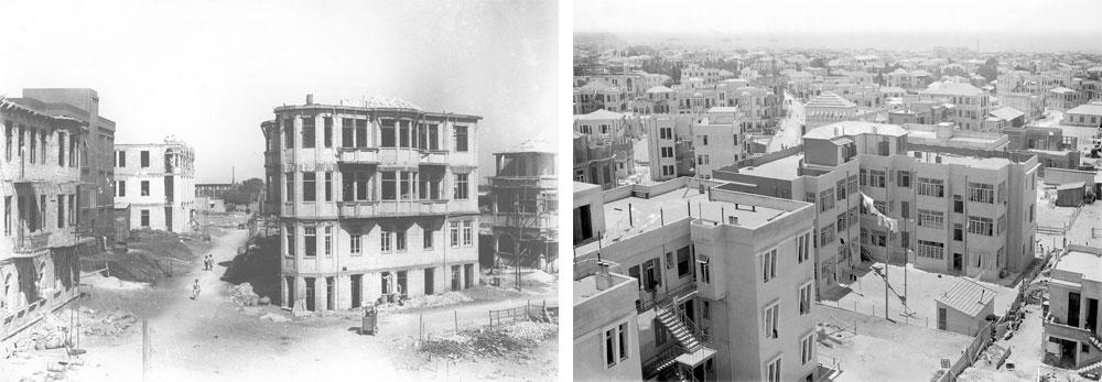 ''בית שפרן'' ו''בית רומנוב'', שמרכיבים את המתחם יחד עם וילת הבאוהאוס ביניהן, הוקמו ב-1925