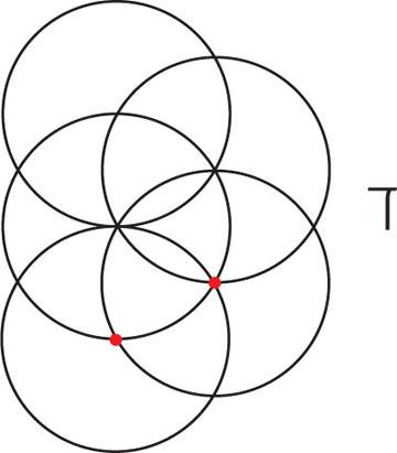 ננעץ את המחוגה בנקודת החבור שנוצרה בין המעגל הראשון והשלישי ונחוג מעגל רביעי (צילום: דריה קרגולה)