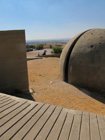 הכיפה תוכננה כמבנה זיכרון לחללים (צילום: מיכאל יעקובסון)
