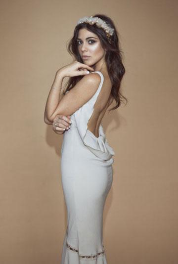 דניאלה פיק בשמלה של נתנאל זיקרי (צילום: דביר כחלון)