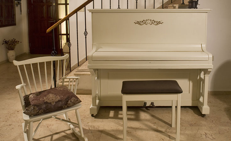 אפשר לצבוע על כל חומר. אפילו צביעת פסנתר אפשרית (צילום: בני אדם)