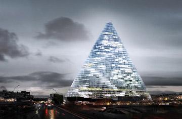 הדמיית הפירמידה (Copyright © Dezeen Limited 2006-2010)