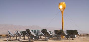 מגדל אנרגיה סולארי בקיבוץ סמר בערבה. פרויקט של חיים דותן (באדיבות חיים דותן בעמ אדריכלים ומתכנני ערים)