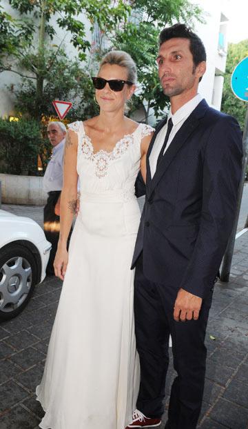 בחתונתה עם אריק בנאדו. מתכננים מעבר למנהטן (צילום: יגל בר קמא)