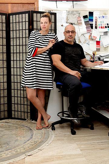 אילנה ברקוביץ' ונתיב יוחאי מאור בסטודיו המשותף. חברות שהפכה לשותפות (צילום: עמי סיאנו)