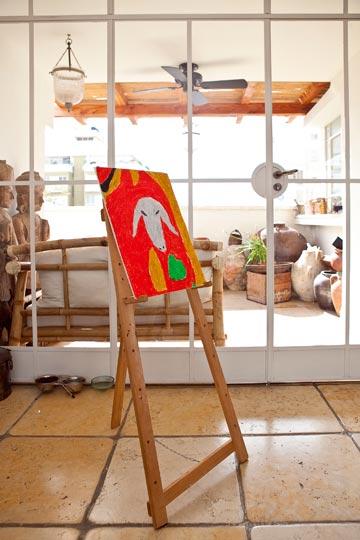 הדירה של בטי קדם. לכניסה לחצו על הלינק למעלה (צילום: שירן כרמל)