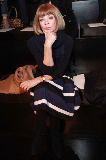 אנה ווינטור. ''אופנה היא אחת התעשיות האחרונות שנותרו אליטיסטיות'' (צילום: gettyimages )