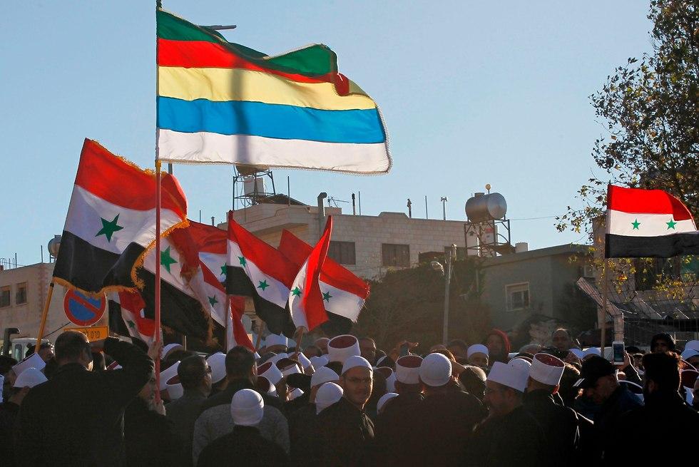 A Golán-fennsík izraeli részén élő drúz kisebbség tiltakozott a helyhatósági választások miatt