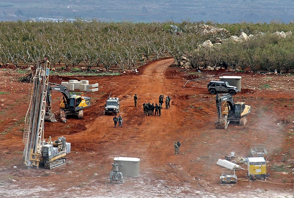 Engineering work along the Israel Lebanon border