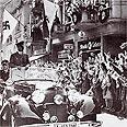 """היטלר מתקבל בהתלהבות ע""""י אזרחי אוסטריה"""