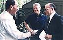 בגין, קרטר וסדאדאת בקמפ דייויד (צילום: AP)