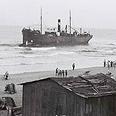 אוניית המעפילים פריטה עוגנת מול חופי תל אביב, 1939