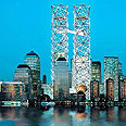 הדמיה של אנדרטת בנייני התאומים