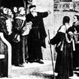 """ג'ון ויקליף שולח את מאמיניו להפיץ את התנ""""ך שתרגם לאנגלית, 1382 בקירוב"""