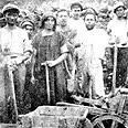 חברי גדוד העבודה בסלילת כביש טבריה-צמח, 1921