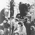 עולים מעירק בשדה התעופה לוד, 1950