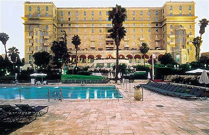 Jerusalem's King David Hotel. Tourists pay an average of $609 per night for a 5-star hotel room (Photo: AP)