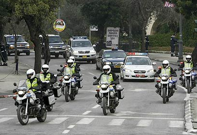President Bush's motorcade during his visit to Jerusalem in 2007 (Photo: Reuters) (Photo: Reuters)