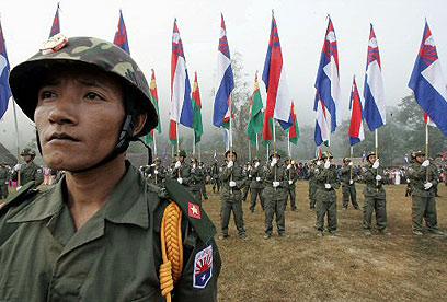 ארגון המורדים הגדול הפך לצל של עצמו. לוחמי ה-KNU (צילום: AFP) (צילום: AFP)