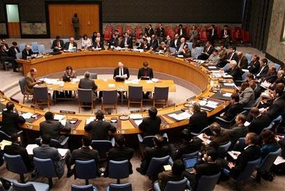 """מועצת הביטחון של האו""""ם. ארבעה סבבי סנקציות (צילום: AP) (צילום: AP)"""