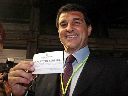 ז'ואן לאפורטה. רצה שמסי יחזור במהרה לברצלונה (צילום: AFP)