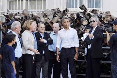 """עם אובמה ב-2008. """"בעבר הסיוע היה מובן מאליו"""" (צילום: אלכס זגר) (צילום: אלכס זגר)"""