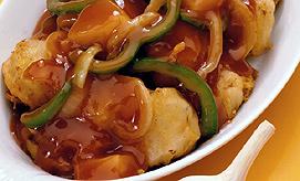 עוף חמוץ מתוק בסגנון סיני. צילום: ויזואל/פוטוס