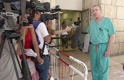 ריבקינד בבית החולים (צילום: גיל יוחנן) (צילום: גיל יוחנן)