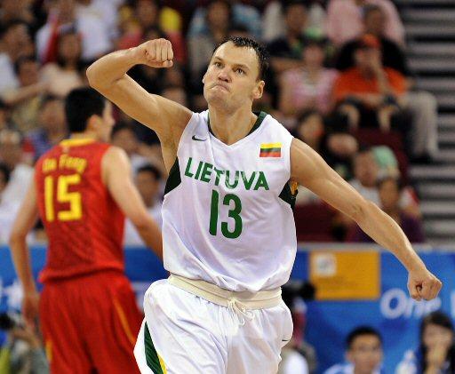 זכה עם ליטא ביורובאסקט. שאראס (צילום: AFP) (צילום: AFP)