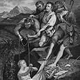 אחיו של יוסף משליכים אותו לבור