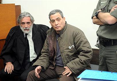 מנבר בדיון בבית המשפט לפני שנתיים (צילום: ירון ברנר) (צילום: ירון ברנר)