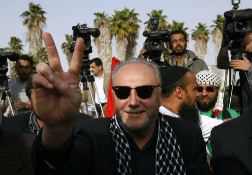 Galloway visiting Gaza (Photo: AFP)