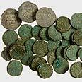 המטבעות שנמצאו בחפירות צילום: קלרה עמית