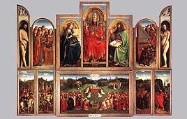 """""""הערצת השה"""", יאן והוברט ון אייק, (1417 - 1432)"""