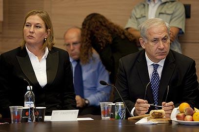 Livni and Netanyahu. On the same page? (Photo: Dudi Vaknin)