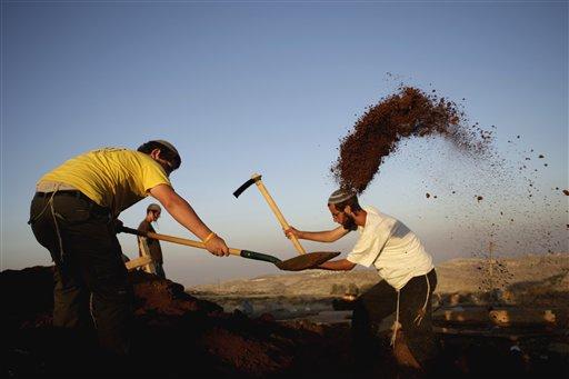 Settler youth in Ramat Migron (Photo: AP)