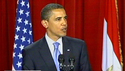 Obama's Cairo speech (Archive photo: CNN)
