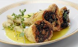 אוכל איטלקי. ארטישוק ממולא (צילום: ירון ברנר)