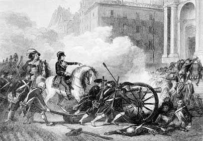 נפוליאון מביס את מתנגדי המהפכה במאה ה-18. מה חשוב ומה לא? (צילום: jupiter) (צילום: jupiter)