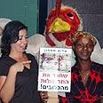 פעילים למען התרנגולות צילום: מי-טל בן-סימון