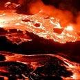סלע וולקני - המגמה מתקררת לאחר שפרצה החוצה בהתפרצות געשית